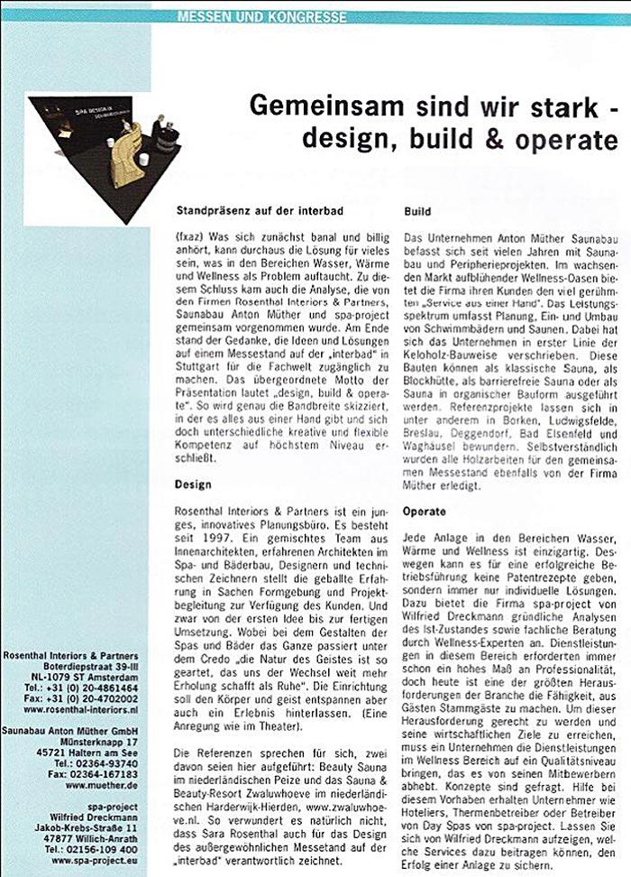 """""""Gemeinsam sind wir stark - design, build & operate"""""""