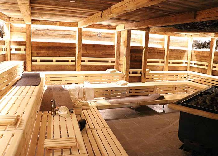 Stollensauna im Calypso in Saarbrücken, Platz für 70 Personen