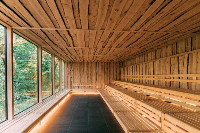 WALDsauna: 60 m² Panorama-Baumhaussauna