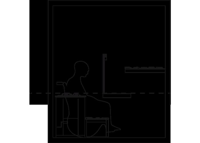 Barrierefreie Sauna mit Rollstuhl