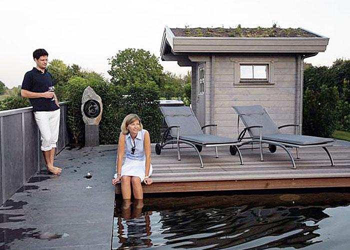 Gartensauna am Schwimmteich