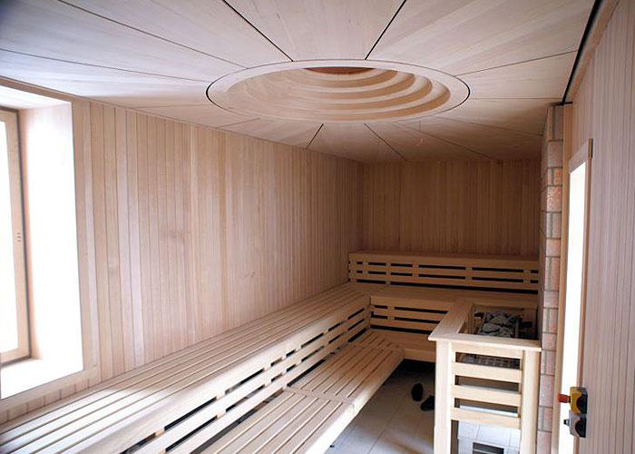 Gartensauna Holz-Decke