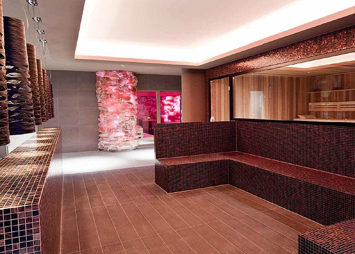 Salzstein Sauna LED
