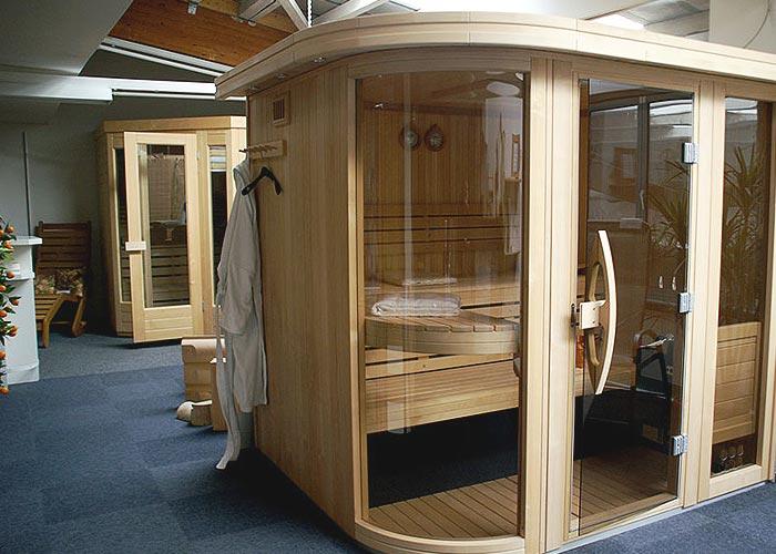 Sauna Ausstellung Designsauna