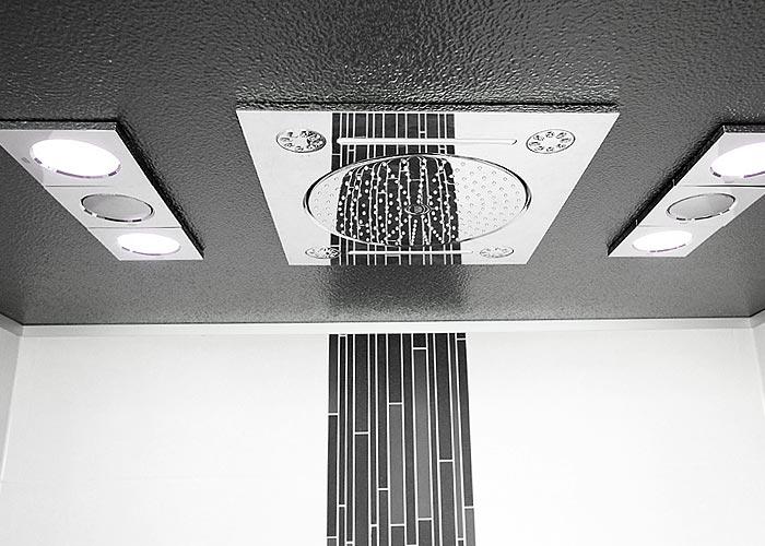 Sauna Ausstellung Dusche