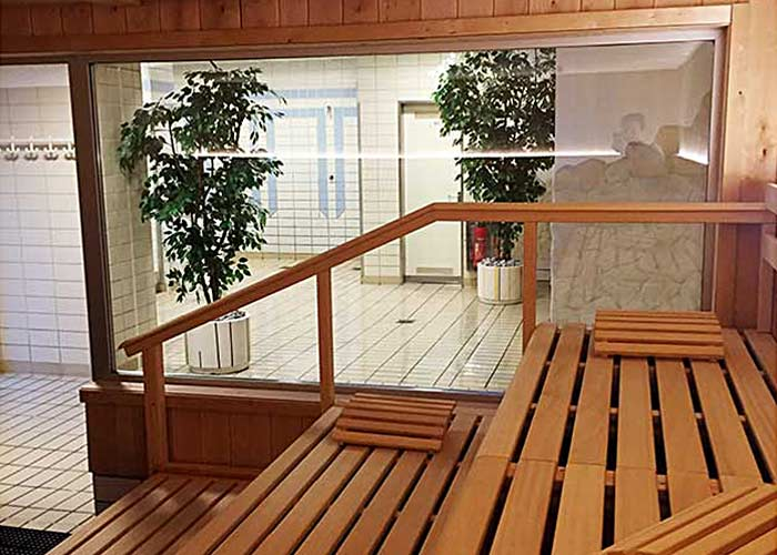 Herren-Sauna Nienhausen, Blick nach außen