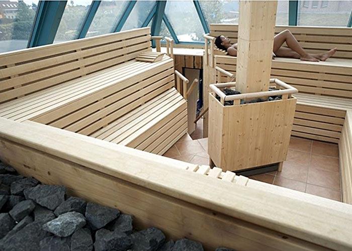 Saunaanlage Houten, Utrecht Sauna, Dampfbad, Anlage (innen, außen), Salz-Sauna, Tepidarium
