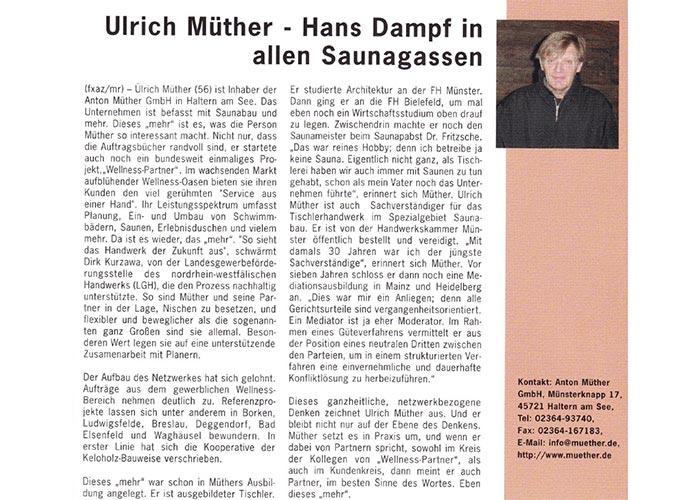 """""""Ulrich Müther – Hans Dampf in allen Saunagassen"""""""