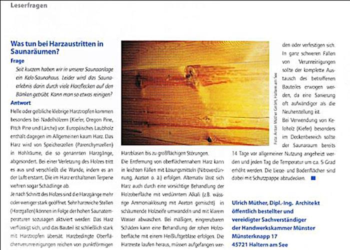 Heimsaunen Holzart, Kelo-Kiefer für Innensauna von Müther Saunabau