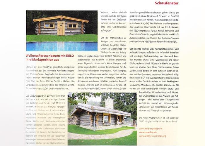 Kelo-Saunas, Aussensauna, Blockbohlensauna, Massivholzsauna vom Saunabauer